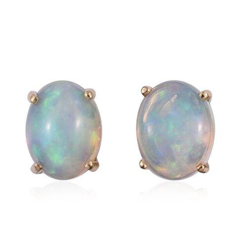 ILIANA 18K Y Gold AAA Ethiopian Welo Opal (Ovl) Stud Earrings (with Screw Back) 2.250 Ct.