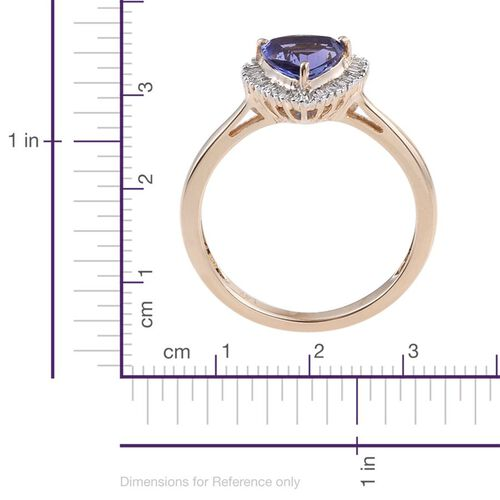 14K Y Gold Tanzanite (Trl 1.25 Ct), Diamond Ring 1.500 Ct.