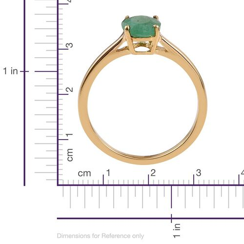 Kagem Zambian Emerald (Ovl) Solitaire Ring in 14K Gold Overlay Sterling Silver 1.000 Ct.