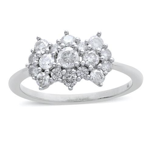 9K W Gold SGL Certified Diamond (Rnd) (I3/G-H) Ring 1.005 Ct.