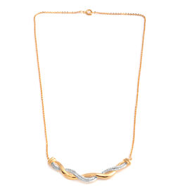 Diamond (Rnd) Necklace (Size 18) in Gold and Silver Plated