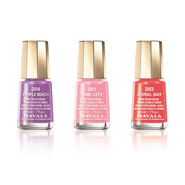 Mavala - Trio Purple Beach - New Trio - Pink City 291 - Purple Beach 284 and Coral Bay 283