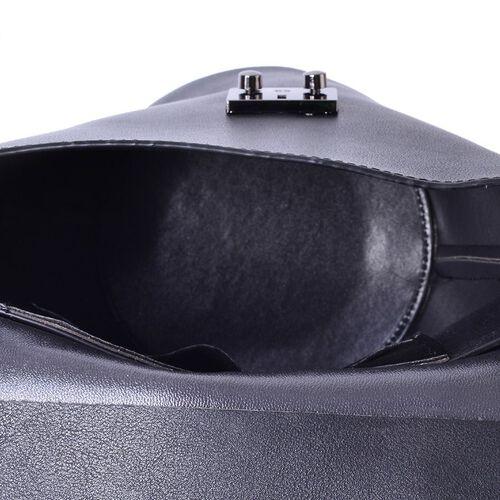 Black Colour Crossbody Bag with Adjustable Shoulder Strap (Size 24.5x24x16x16 Cm)