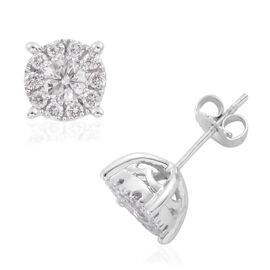 New York Close Out - 14K White Gold Diamond (Rnd) (I1-I2/G-H) Stud Earrings 1.000 Ct.