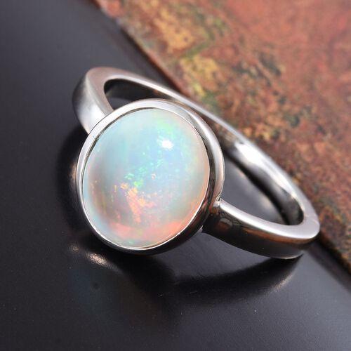 RHAPSODY 950 Platinum 2.25 Ct AAAA Ethiopian Welo Opal Solitaire Ring