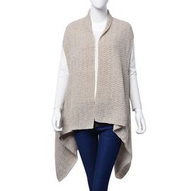 Grey and Cream Colour Wrap (Free Size)