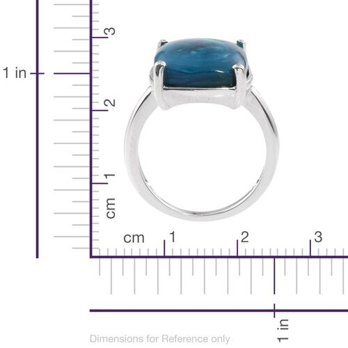 Natural Rare Opalina (Cush) Solitaire Ring in Platinum Overlay Sterling Silver 8.000 Ct.
