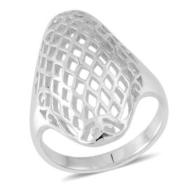 Thai Sterling Silver Net Design Ring, Silver wt 5.41 Gms.
