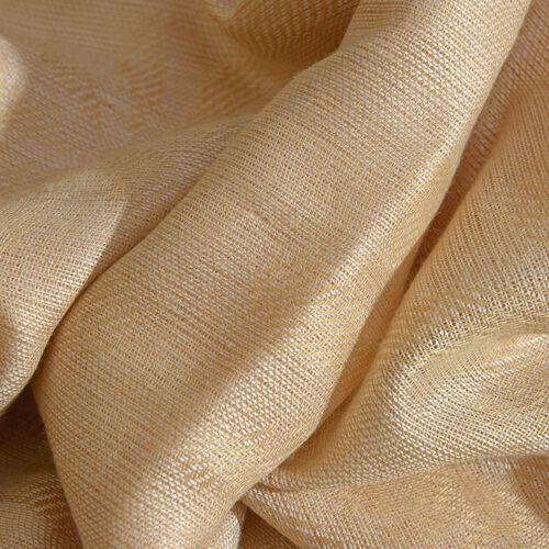 White Colour Scarf with White Colour Lurex (Size 180x70 Cm)