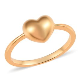 14K Gold Overlay Sterling Silver Mini Heart Promise Ring, Silver wt 2.59 gms