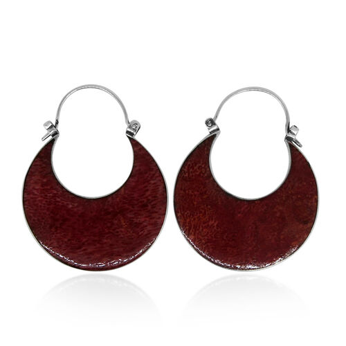Royal Bali Collection Sponge Coral Earrings (with Clasp Lock) in Sterling Silver 11.000 Ct.