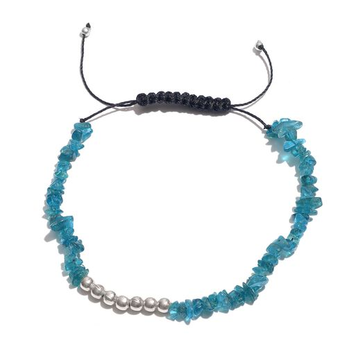 Malgache Neon Apatite Bracelet (Size 7.5 with Adjustable) in Platinum Overlay Sterling Silver 21.000 Ct.