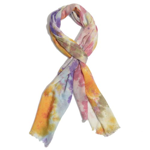 Set of 2 - Multi Colour Printed Scarf (Size 180x50 Cm)