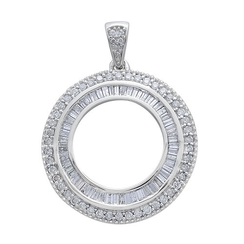 9K W Gold SGL Certified Diamond (Bgt) (G-H/I3) Circle of Life Pendant 1.000 Ct. 3.30 Grams of 9k White Gold
