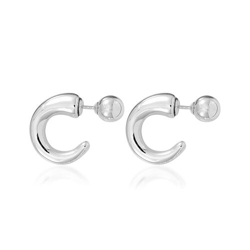 Designer Inspired Sterling Silver Front and Back Earrings, Silver wt 8.00 Gms.