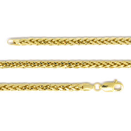 9K Yellow Gold Diamond Cut Spiga Necklace (Size 20), Gold wt 8.51 Gms.