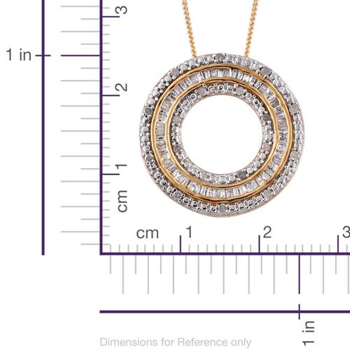 Diamond (Rnd) Dream Catcher Pendant With Chain in 14K Gold Overlay Sterling Silver 0.250 Ct.
