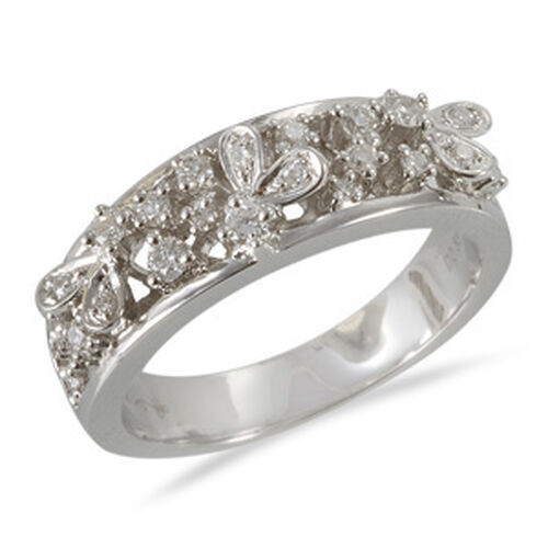 FIREFLY Diamond (Clarity SI and Colour G to H) 18K W Gold Ring  0.330 Ct.