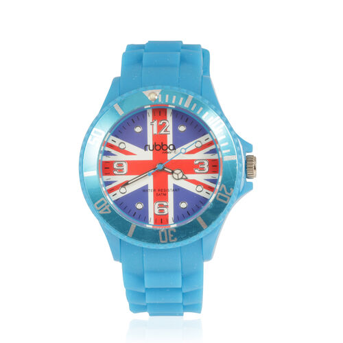 RUBBA - BST British Triumph Collection Thames Blue Edition Sapphire Glass Bezelled Wrist Watch