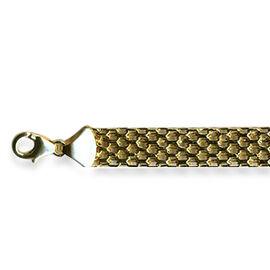 Italian Made 9K Yellow Gold Bismark Bracelet (Size 7.5), Gold wt 4.50 Gms.