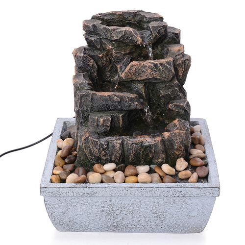 Home Decor - Rock and Pebbles Water Fountain with Electric Fitting
