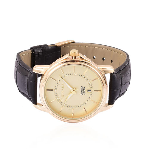 STRADA Japanese Movement Gold Tone Watch