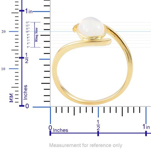 Ethiopian Welo Opal (Ovl) Solitaire Ring in Yellow Gold Overlay Sterling Silver 1.000 Ct.