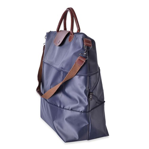 Designer Inspired- Grey Colour Foldable Travel Bag with Shoulder Strap (Size 58x52x42x21 Cm)