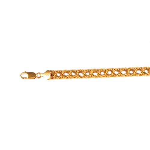JCK Vegas Collection 9K Y Gold Double Curb Necklace (Size 20), Gold wt 17.77 Gms.