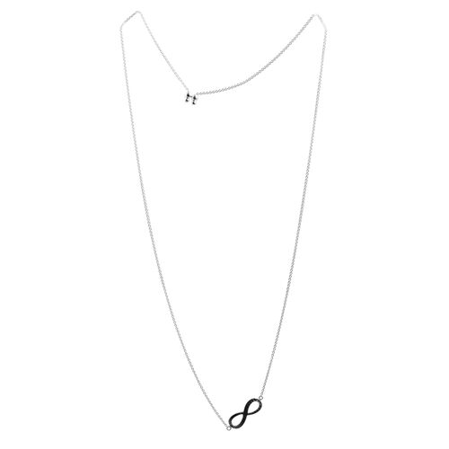 Close Out Deal Sterling Silver Adjustable Infinity Necklace (Size 26), Silver wt 4.90 Gms.
