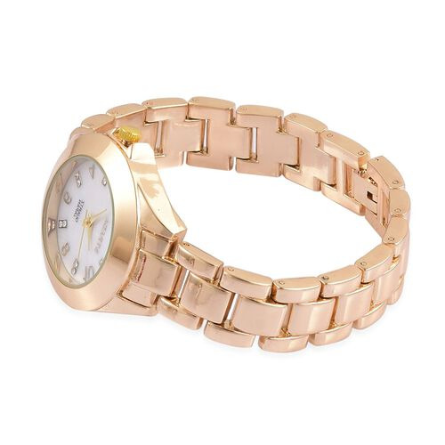 STRADA Japanese Movement Gold Tone Watch with Austrian Crystal