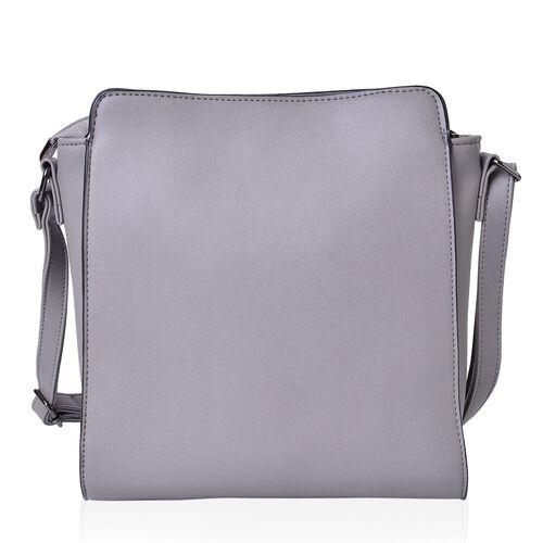 Winter Rose Embossed Hand Painting Shoulder Bag with Adjustable Shoulder Strap (Size 24X11.5X8 Cm)