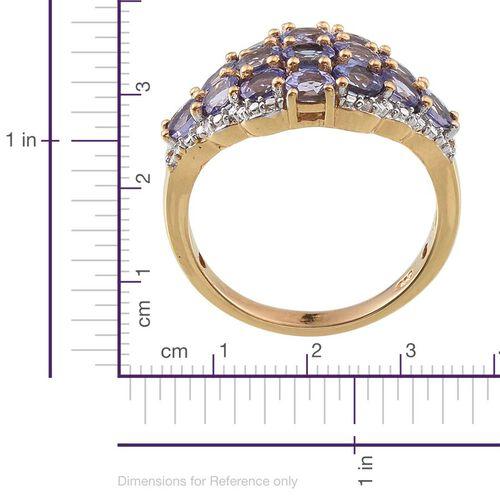 Tanzanite (Ovl), Diamond Ring in 14K Gold Overlay Sterling Silver 2.760 Ct.
