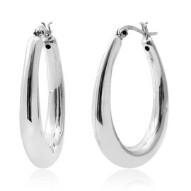 Sterling Silver Hoop Earrings (with Clasp), Silver wt 6.11 Gms.