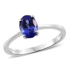 RHAPSODY 950 Platinum 1.10 Ct AAAA Tanzanite Solitaire Ring