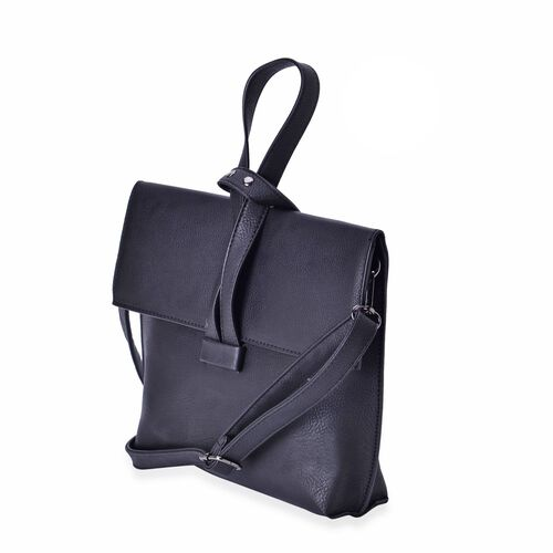 Celina Dazzling Black Crossbody Bag with Adjustable and Removable Strap (Size 24x19.5x6 Cm)