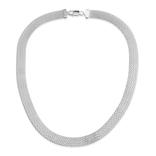 JCK Vegas Collection Sterling Silver Bismark Necklace (Size 20), Silver wt 26.00 Gms.