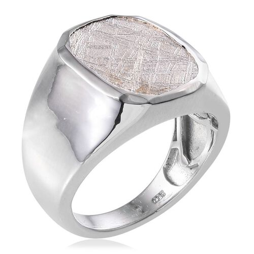 Meteorite (Cush) Ring in Platinum Overlay Sterling Silver 16.250 Ct.