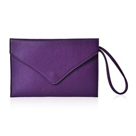 New Season YUAN COLLECTION Deep Purple Envelope Clutch/ Travel Pouch (Size 25.5x17 Cm)