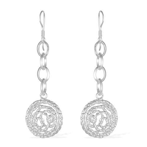 Thai Sterling Silver Hook Earrings, Silver wt 5.80 Gms.