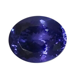 IGI Certified Tanzanite Faceted (Oval 10.96x8.9 3A) 3.480 Cts (GT12934701)
