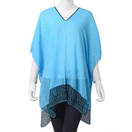 Blue Colour Poncho (Size 76x72 Cm)