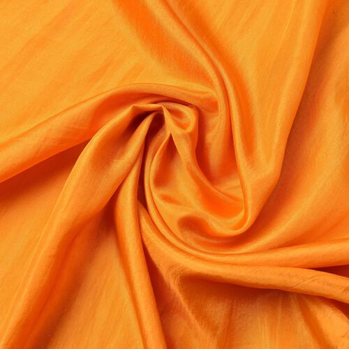 New Season - 100% Mulberry Silk Orange Colour Scarf (Size 180X100 Cm)