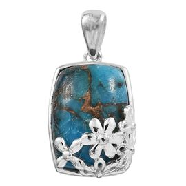 One Time Close Out Deal- Mohave Blue Turquoise (Cus) Sterling Silver Pendant 7.000 Ct.