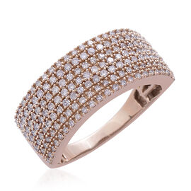 Exclusive Edition ILIANA 18K Rose Gold Natural Pink Diamond (Rnd) Ring 1.000 Ct. Gold Wt 7.80 Gms Number of Diamonds 172