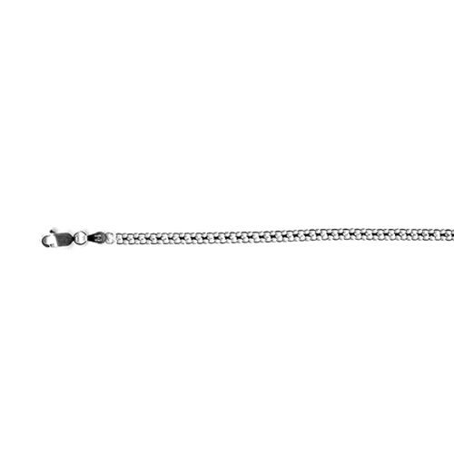 Vicenza Collection Sterling Silver Bismark Chain (Size 20), Silver wt 4.14 Gms.
