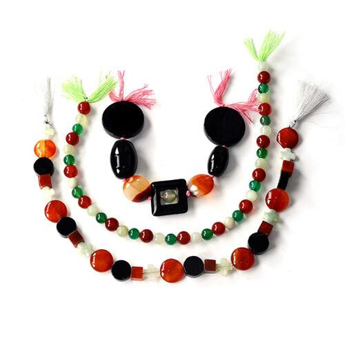 Multi Onyx & Agate Gemstone Chain (Beads)  915.000  Ct.