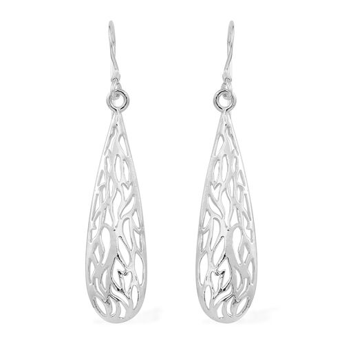 Vicenza Collection Sterling Silver Hook Earrings, Silver wt 4.21 Gms.