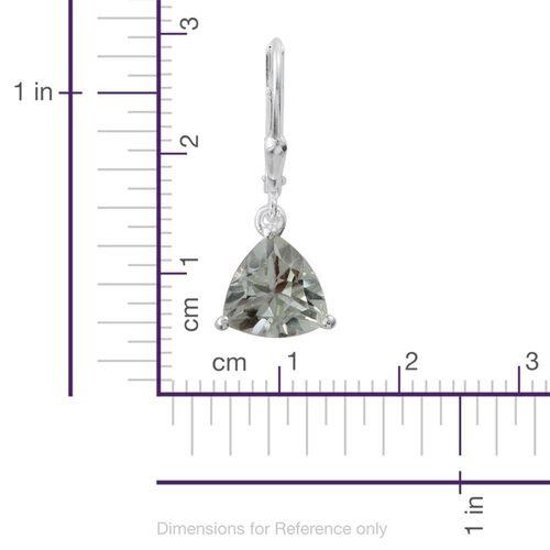 Green Amethyst (Trl) Lever Back Earrings in Sterling Silver 3.250 Ct.