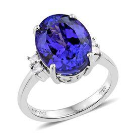 RHAPSODY 950 Platinum 7.85 Ct AAAA Tanzanite, Diamond VS E-F Ring